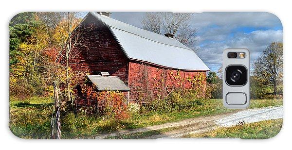 Old Red Barn - Berkshire County Galaxy Case