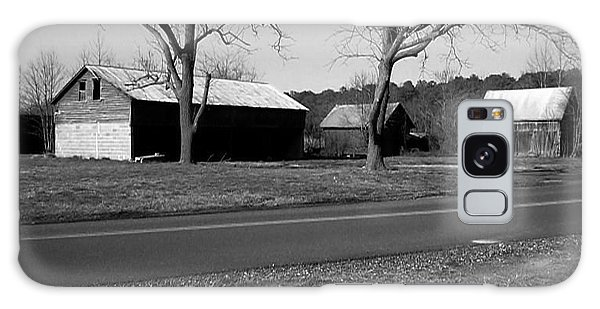 Old Red Barn In Black And White Galaxy Case by Amazing Photographs AKA Christian Wilson
