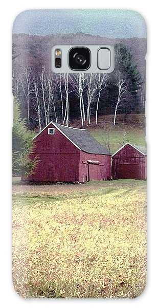 Old Red Barn Galaxy Case by John Scates