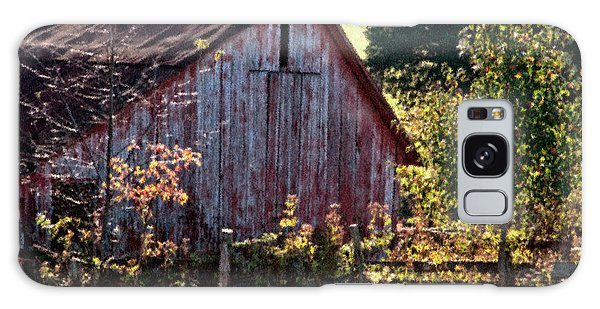 Old Red Barn Nine Galaxy Case by Ken Frischkorn