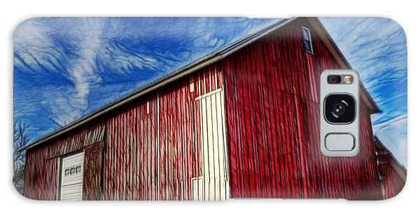 Old Red Wooden Barn Galaxy Case