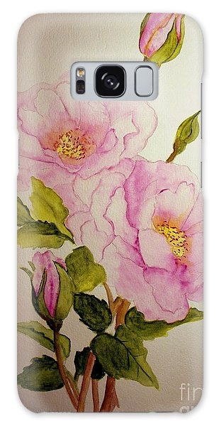 Old Roses From The Garden Galaxy Case by Carol Grimes