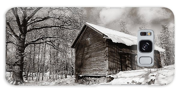 Old Rural Barn In A Winter Landscape Galaxy Case by Christian Lagereek