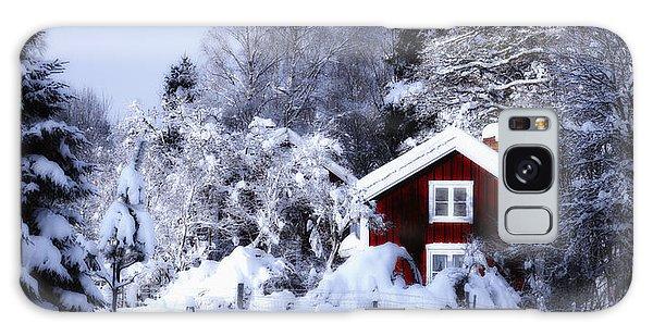 Old Rural Winter Landscape Scenery Galaxy Case by Christian Lagereek