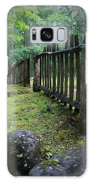 Old Rustic Fence Galaxy Case by Larry Bohlin