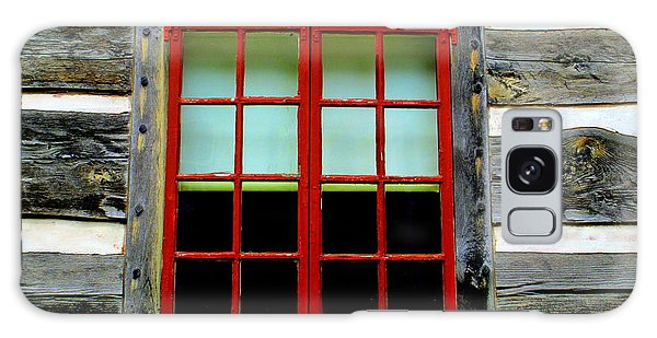 Old Salem Window Fourteen Galaxy Case