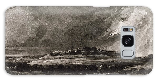 English Countryside Galaxy Case - Old Sarum, Engraved By David Lucas 1802-81 C.1829 Mezzotint by John Constable