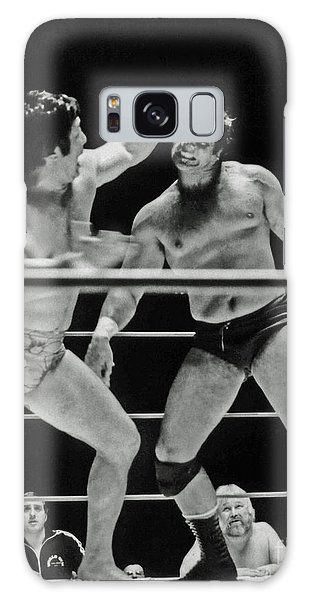 Old School Wrestlers Dean Ho And Don Muraco Battling It Out In The Middle Of The Ring Galaxy Case by Jim Fitzpatrick