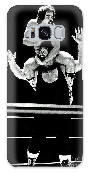 Old School Wrestling Piggyback Ride By Mando Guerrero Galaxy Case by Jim Fitzpatrick