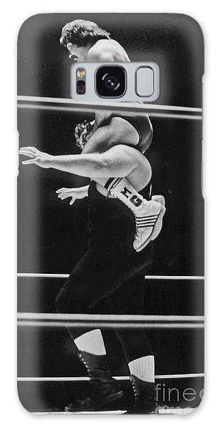 Old School Wrestling Piggyback Ride II With Mando Guerrero  Galaxy Case by Jim Fitzpatrick