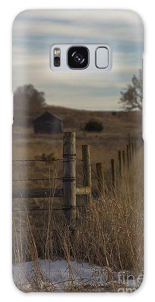 Rural Nebraska Fence  Galaxy Case
