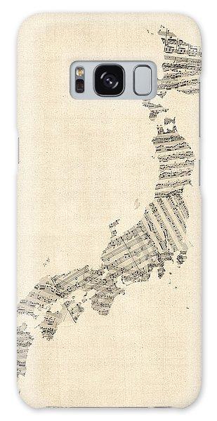 Old Sheet Music Map Of Japan Galaxy Case