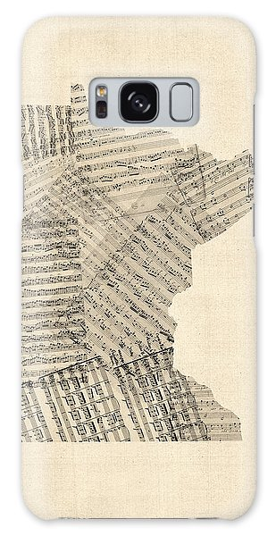 Old Sheet Music Map Of Minnesota Galaxy Case