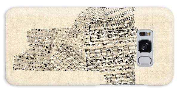 Empire State Galaxy Case - Old Sheet Music Map Of New York State by Michael Tompsett