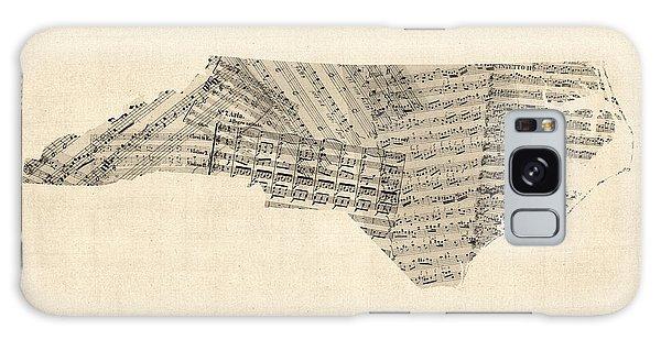 Old Sheet Music Map Of North Carolina Galaxy Case