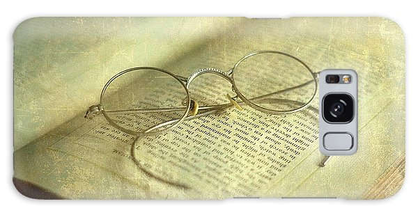 Old Silver Spectacles And Book Galaxy Case