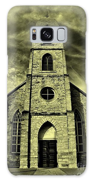 Old St. Mary's Church In Fredericksburg Texas In Sepia Galaxy Case