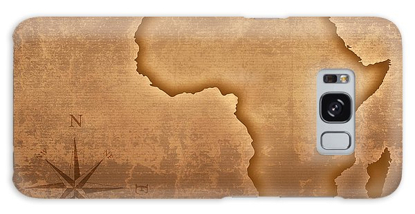 Faded Galaxy Case - Old Style Africa Map by Johan Swanepoel