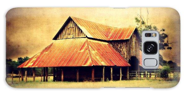 Old Texas Barn Galaxy Case by Julie Hamilton