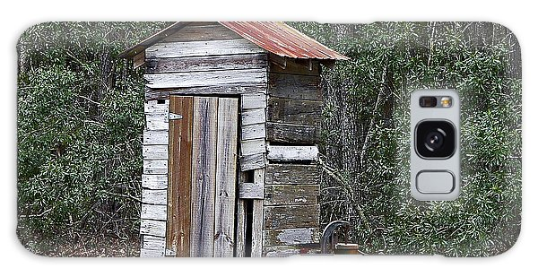 Old Time Outhouse And Pitcher Pump Galaxy Case