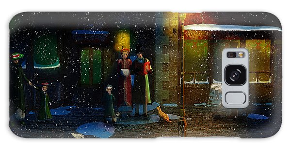 Old Town Christmas Eve Galaxy Case by Ken Morris