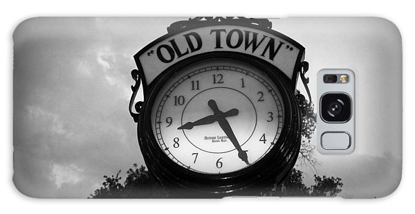 Old Town Clock Galaxy Case by Laurie Perry