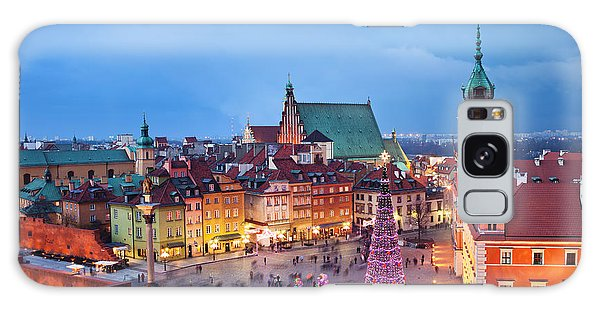 Old Town In Warsaw At Night Galaxy Case