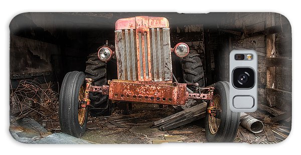 Galaxy Case featuring the photograph Old Tractor Face by Gary Heller