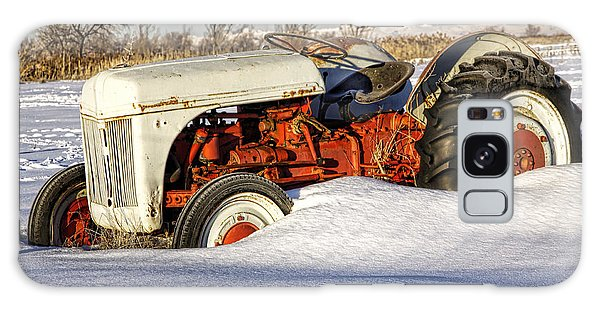 Old Tractor In The Snow Galaxy Case
