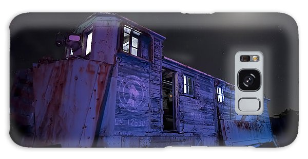 Old Train Trail Snow Plow Galaxy Case
