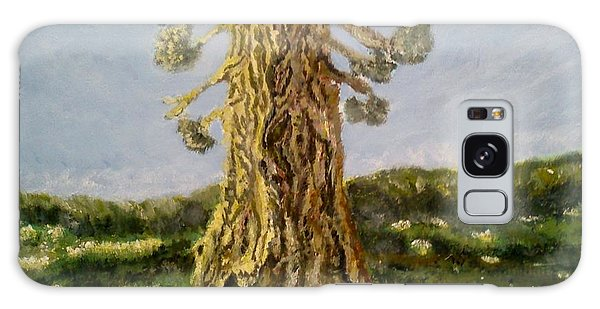 Old Tree In Spring Light Galaxy Case