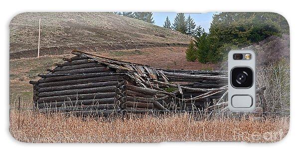 Old Turn Of The Century Log Cabin Homestead Art Prints Galaxy Case by Valerie Garner