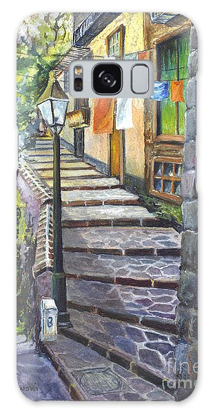 Old Village Stairs - In Tuscany Italy Galaxy Case