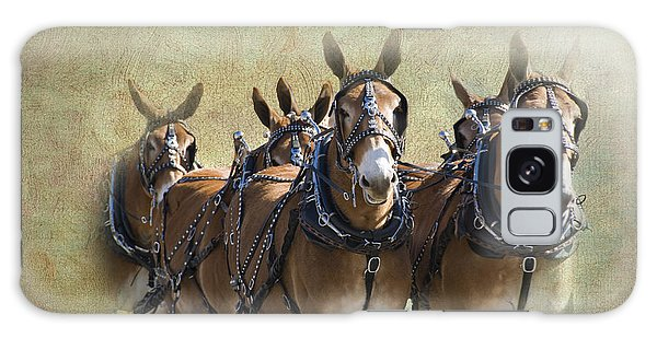 Old West Mule Train Galaxy Case