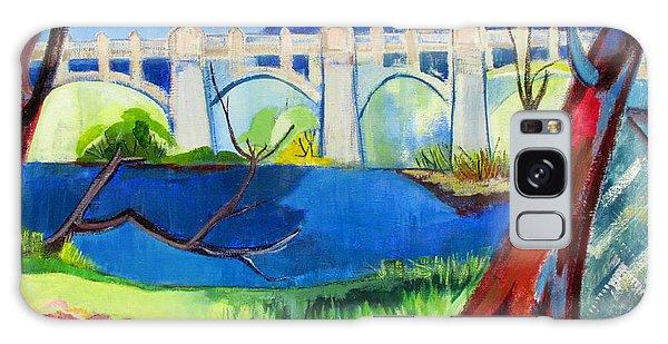 Old Western Gateway Bridge Schenectady To Scotia Galaxy Case by Betty Pieper