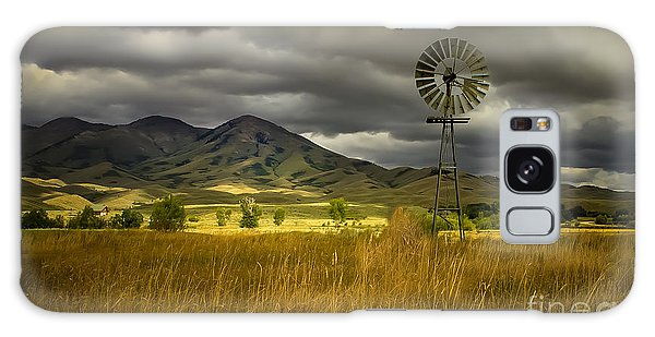 Haybale Galaxy Case - Old Windmill by Robert Bales