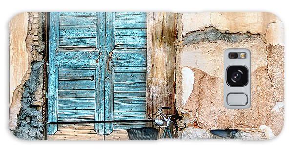 Window Galaxy Case - Old Window And Bicycle by George Digalakis