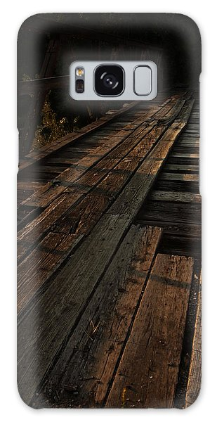 Old Wooden Bridge Galaxy Case