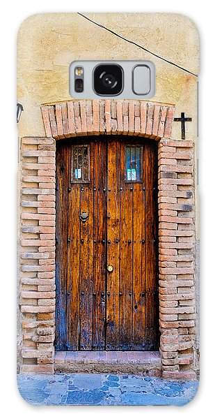 Old Wooden Door - Mexico - Photograph By David Perry Lawrence Galaxy Case