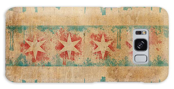 Old World Chicago Flag Galaxy Case