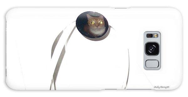 Olga Cat Reflected In Drawer Knob Galaxy Case by Kathy Barney
