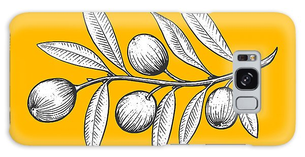 Olive Branch Galaxy Case - Olive Branch Engraving Style Vector by Alexander p
