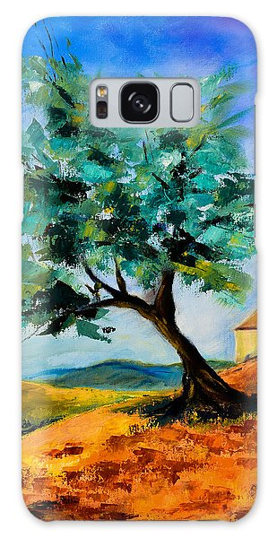 Olive Tree On The Hill Galaxy Case