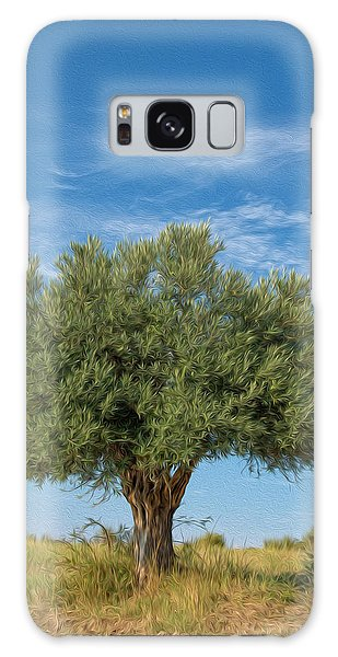 Olive Branch Galaxy Case - Olive Tree Painting by Roy Pedersen