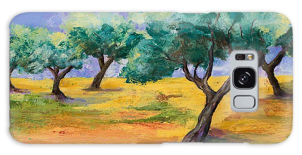 Olive Trees Grove Galaxy Case