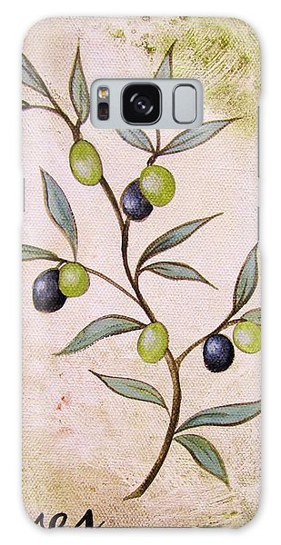 Olives Painting Galaxy Case