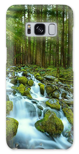 Olympic National Park Galaxy Case - Olympic Green by Dan Mihai