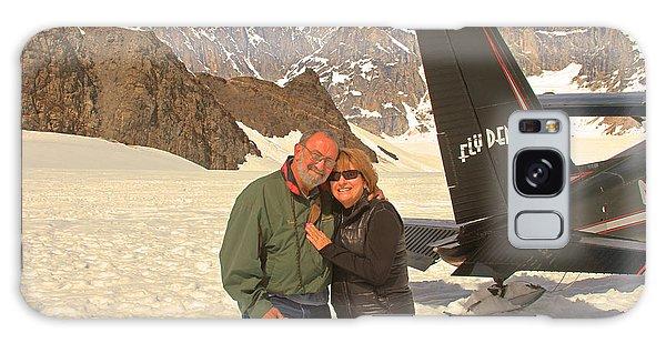 On A Glacier By Mount Denali Galaxy Case by Ronald Olivier