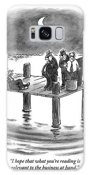 On A Pier, Three Mobsters Prepare To Drown Galaxy S8 Case