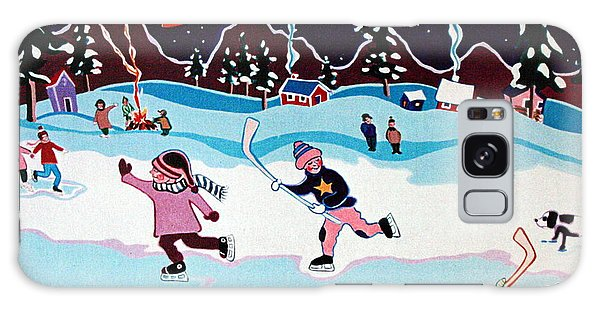 On Frozen Pond Galaxy Case by Joyce Gebauer
